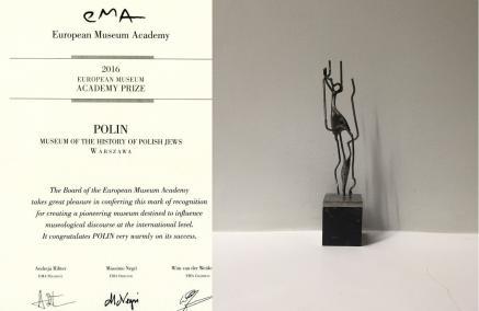 Nagroda European Museum Academy dla Muzeum POLIN