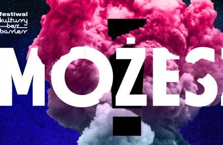 Festiwal Kultury bez Barier 2019 - Na tle w kolorach różu, fioletu, czerni widnieje biały napis, wielkimi literami