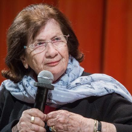 świadkowie historii, spotkania, edukacja, Halina Birenbaum