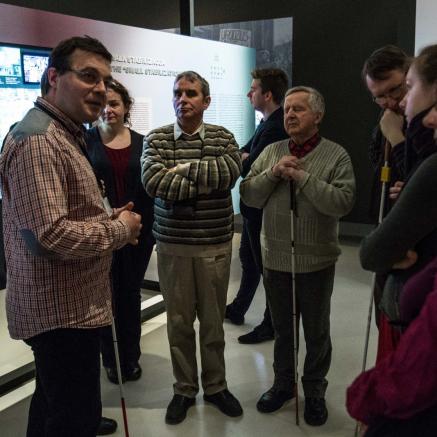 Spotkania z historią i tradycją żydowską, spotkania dla niewidomych, Muzeum POLIN