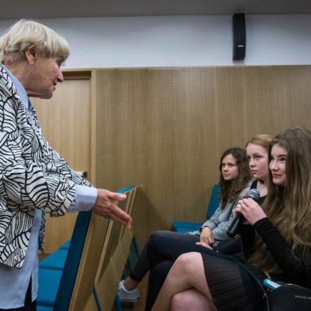 Irena Senderska-Rzońca, spotkania ze świadkami historii, Muzeum POLIN