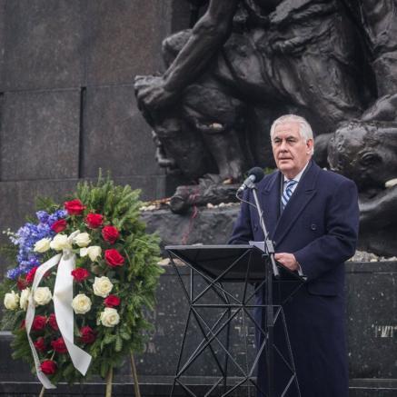 Rex Tillerson, Międzynarodowy Dzień Pamięci o Ofiarach Holocaustu