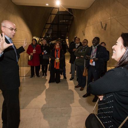 Delegacja Ambasadorów stałych przy ONZ w Muzeum POLIN