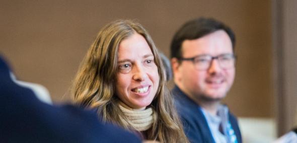 Na zdjęciu: portret Karen Auerbach, autorki wykładu