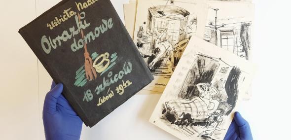 Obrazki domowe. 18 szkiców, Lwów 1942, Elżbiety Nadel