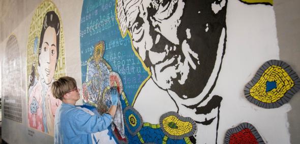 Witaj w domu, murale, Dworzec Gdański