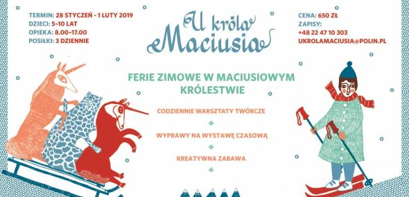 półkolonie, ferie zimowe, Muzeum POLIN, 2019