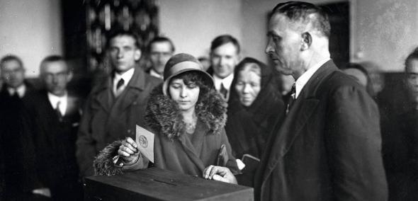 głosowanie, 1930 , Borek Falecki, Narodowe Archiwum Cyfrowe