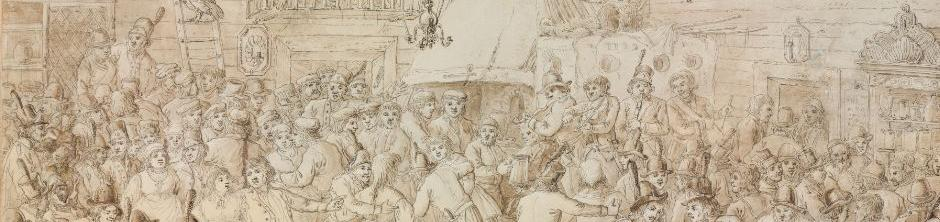 grafika Aleksandra Orłowskiego Zabawa wojska kościuszkowskiego w karczmie, 1797