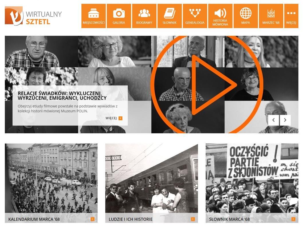 Serwis poświęcony Marcowi '68 / Wirtualny Sztetl