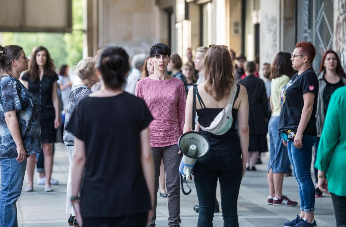 Przejmując scenę. Polifoniczny manifest dla przyszłości Chór POLIN na Biennale Warszawa, Muzeum POLIN